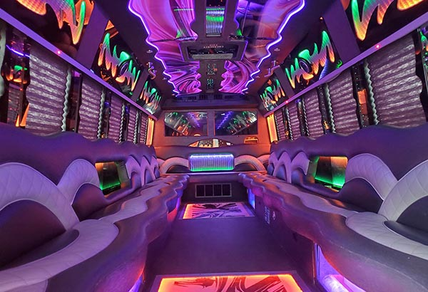 28 pass party bus